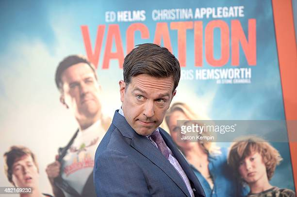 Actor Ed Helms attends the premiere of 'Vacation' at Regency Village Theatre on July 27 2015 in Westwood California
