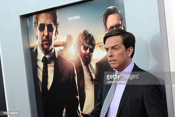 Actor Ed Helms attends the premiere of Warner Bros Pictures' 'Hangover Part 3' on May 20 2013 in Westwood California