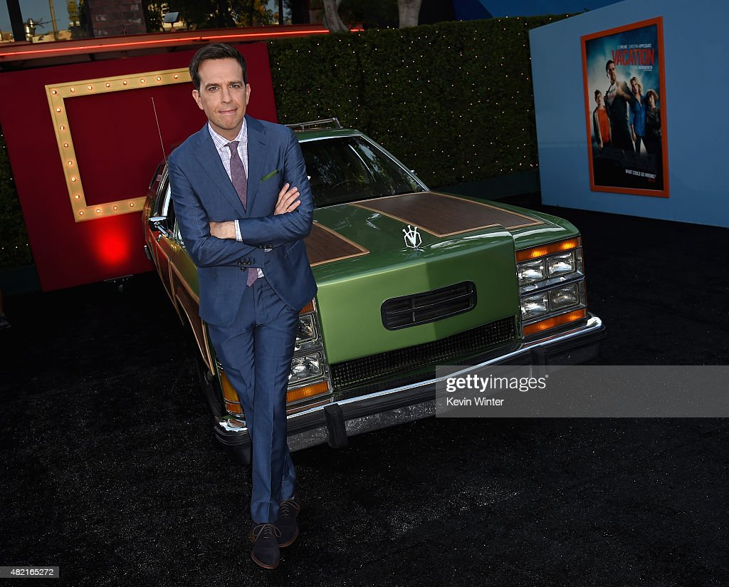 Actor <a gi-track='captionPersonalityLinkClicked' href=/galleries/search?phrase=Ed+Helms&family=editorial&specificpeople=662337 ng-click='$event.stopPropagation()'>Ed Helms</a> attends the premiere of Warner Bros. Pictures 'Vacation' at Regency Village Theatre on July 27, 2015 in Westwood, California.