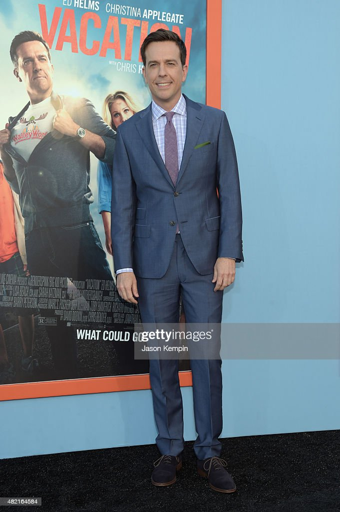 Actor <a gi-track='captionPersonalityLinkClicked' href=/galleries/search?phrase=Ed+Helms&family=editorial&specificpeople=662337 ng-click='$event.stopPropagation()'>Ed Helms</a> attends the premiere of Warner Bros. 'Vacation' at Regency Village Theatre on July 27, 2015 in Westwood, California.