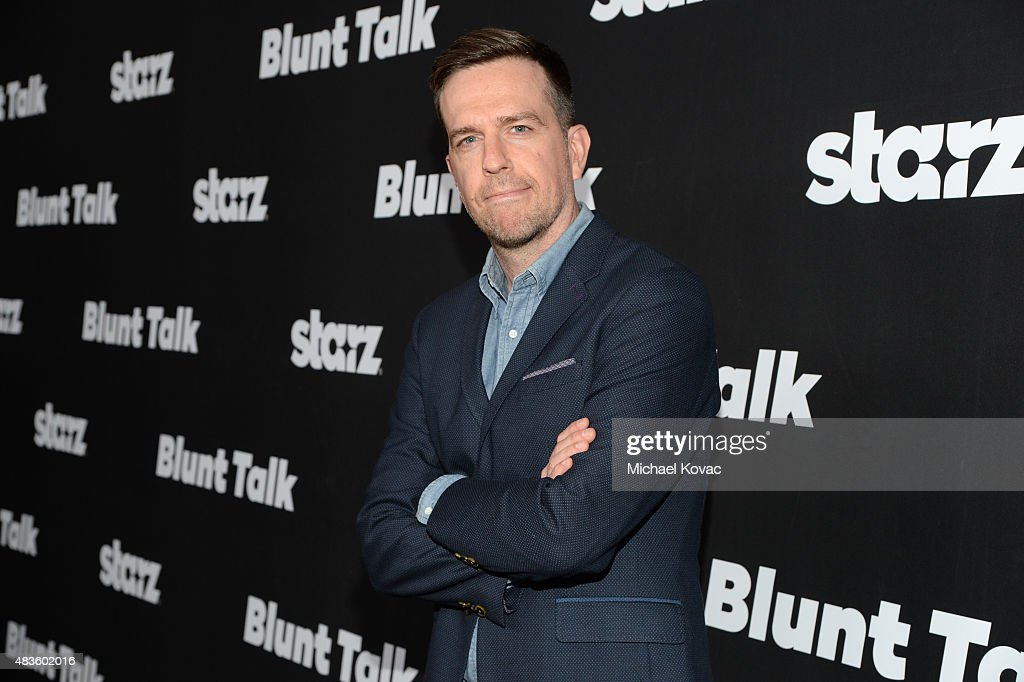 Actor <a gi-track='captionPersonalityLinkClicked' href=/galleries/search?phrase=Ed+Helms&family=editorial&specificpeople=662337 ng-click='$event.stopPropagation()'>Ed Helms</a> attends the STARZ' 'Blunt Talk' series premiere on August 10, 2015 in Los Angeles, California.