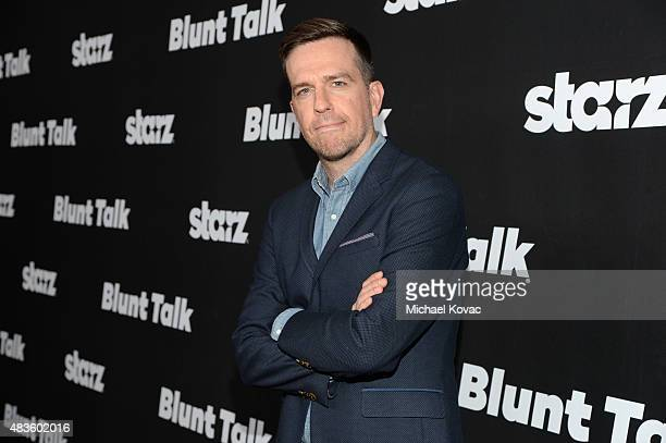 Actor Ed Helms attends the STARZ' 'Blunt Talk' series premiere on August 10 2015 in Los Angeles California