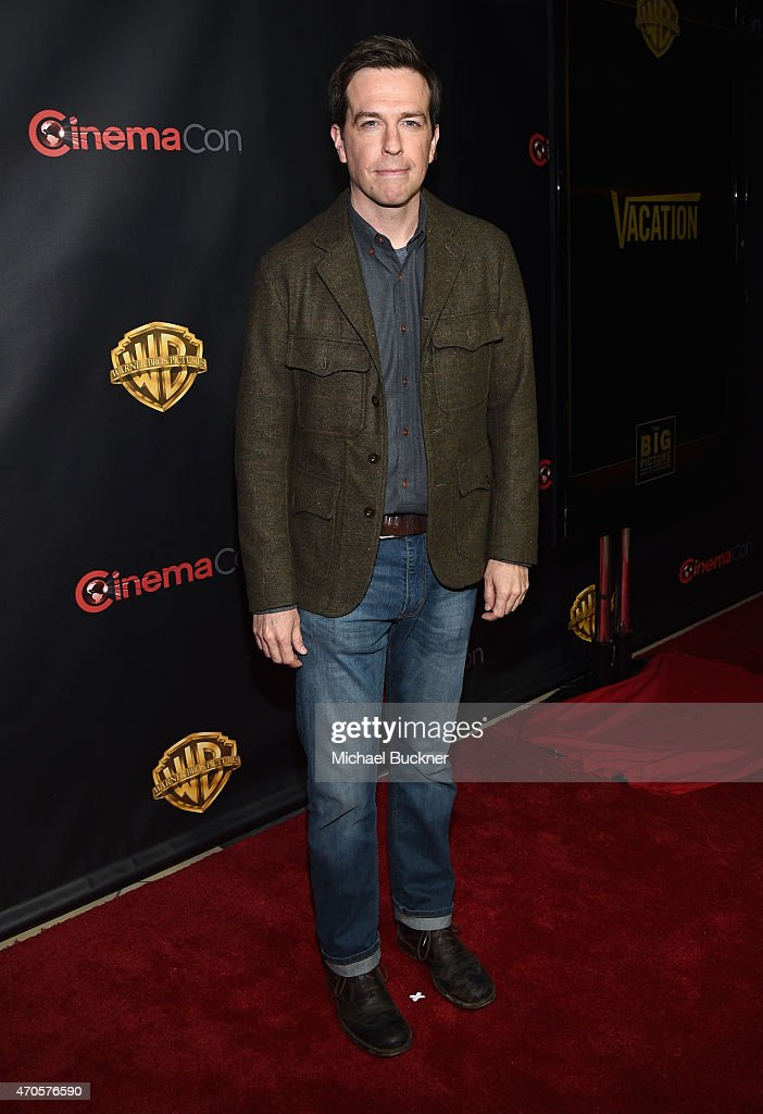 """Actor <a gi-track='captionPersonalityLinkClicked' href=/galleries/search?phrase=Ed+Helms&family=editorial&specificpeople=662337 ng-click='$event.stopPropagation()'>Ed Helms</a> attends Warner Bros. Pictures Invites You to """"The Big Picture"""", an Exclusive Presentation Highlighting the Summer of 2015 and Beyond at The Colosseum at Caesars Palace during CinemaCon, the official convention of the National Association of Theatre Owners, on April 21, 2015 in Las Vegas, Nevada."""
