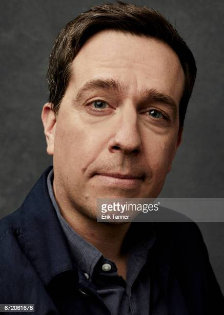 Actor Ed Helms from 'The Clapper' poses at the 2017 Tribeca Film Festival portrait studio on April 23 2017 in New York City