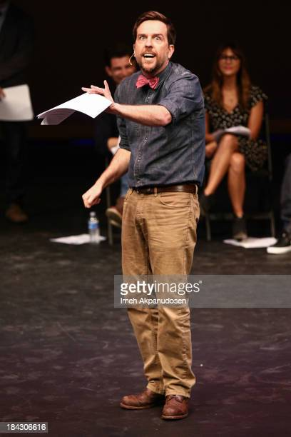 Actor Ed Helms performs onstage at The Young Storytellers Foundation's Annual 'Biggest Show' on October 12 2013 in Santa Monica California