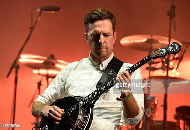 Actor Ed Helms performs onstage with Mumford Sons at What Stage Stage during Day 3 of the 2015 Bonnaroo Music And Arts Festival on June 13 2015 in...