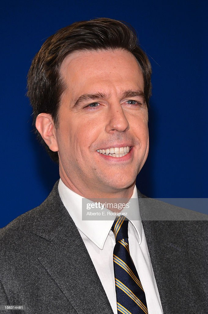 Actor Ed Helms speaks onstage at the 70th Annual Golden Globe Awards Nominations held at The Beverly Hilton Hotel on December 13, 2012 in Beverly Hills, California.