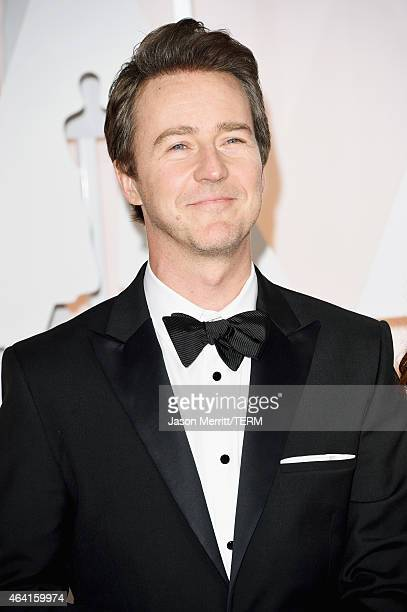 Actor Ed Norton attends the 87th Annual Academy Awards at Hollywood Highland Center on February 22 2015 in Hollywood California