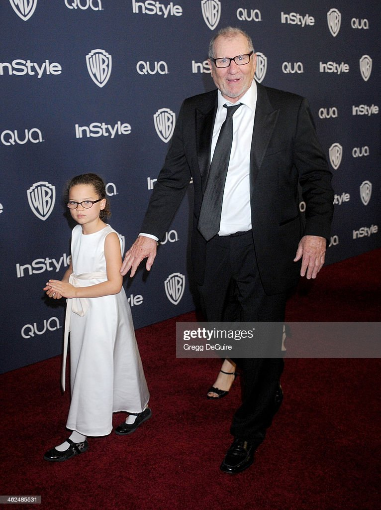 Actor Ed O'Neill and daughter Claire O'Neill arrive at the 2014 InStyle And Warner Bros. 71st Annual Golden Globe Awards post-party at The Beverly Hilton Hotel on January 12, 2014 in Beverly Hills, California.