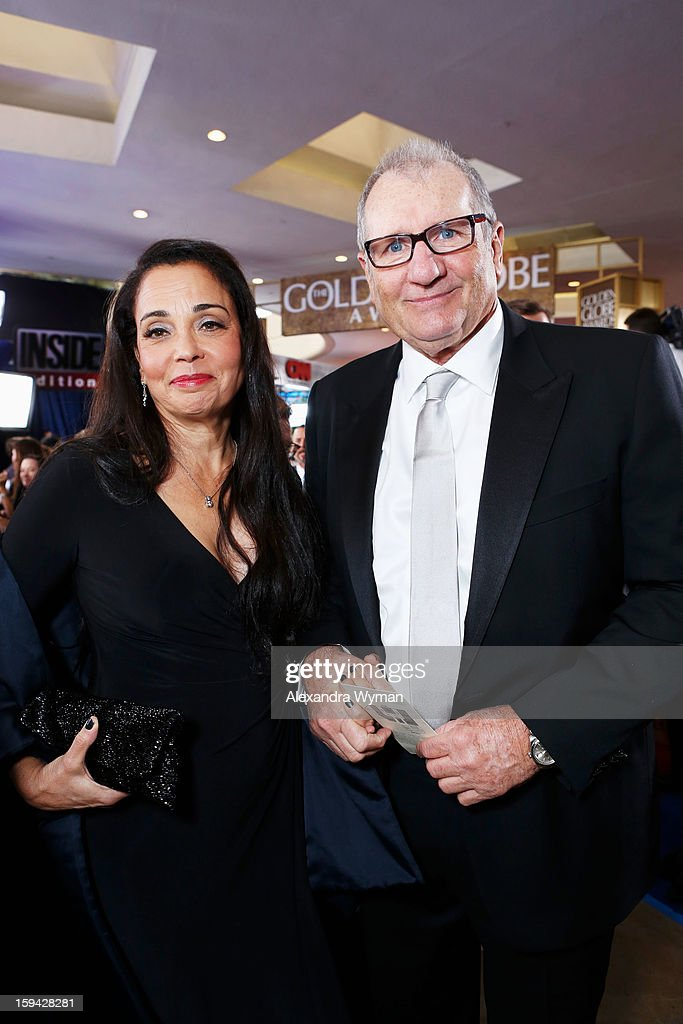 Actor <a gi-track='captionPersonalityLinkClicked' href=/galleries/search?phrase=Ed+O%27Neill&family=editorial&specificpeople=777163 ng-click='$event.stopPropagation()'>Ed O'Neill</a> (L) and guest arrive at the 70th Annual Golden Globe Awards held at The Beverly Hilton Hotel on January 13, 2013 in Beverly Hills, California.