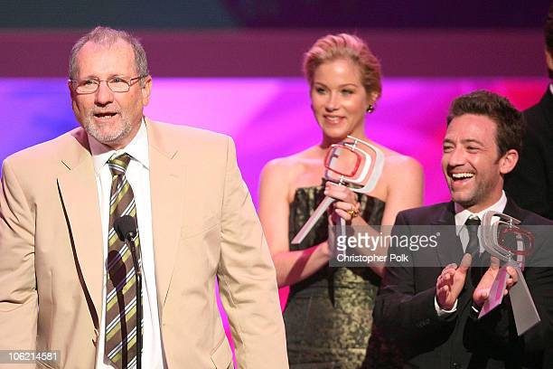 Actor Ed O'Neill of 'Married with Children' speaks as Christina Applegate Ted McGinley and David Faustino onstage during the 7th Annual TV Land...