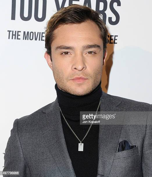 Actor Ed Westwick arrives at LOUIS XIII Toasts To '100 Years The Movie You Will Never See' at Sheats Goldstein Residence on November 18 2015 in Los...