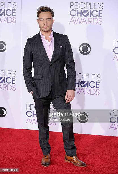 Actor Ed Westwick arrives at the 2016 People's Choice Awards at Microsoft Theater on January 6 2016 in Los Angeles California