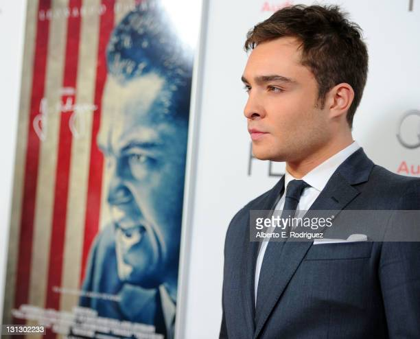 Actor Ed Westwick arrives at the 'J Edgar' opening night gala during AFI FEST 2011 presented by Audi held at Grauman's Chinese Theatre on November 3...