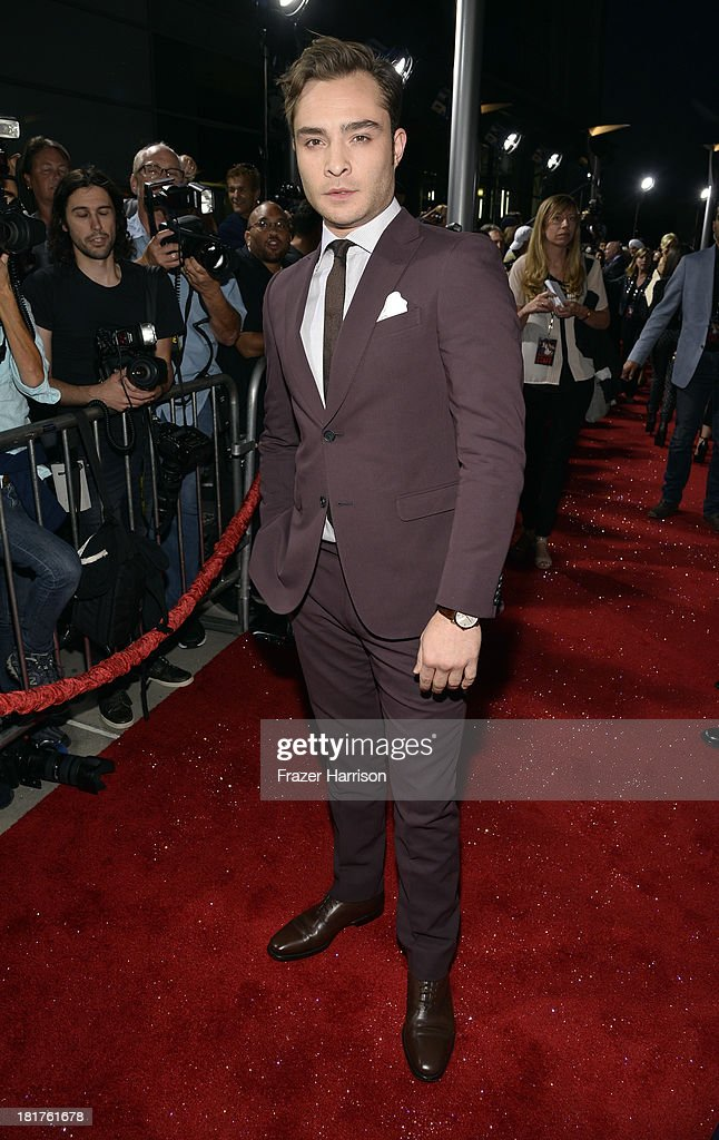 Actor Ed Westwick arrives at the premiere of Relativity Media's 'Romeo And Juliet' at ArcLight Cinemas on September 24, 2013 in Hollywood, California.