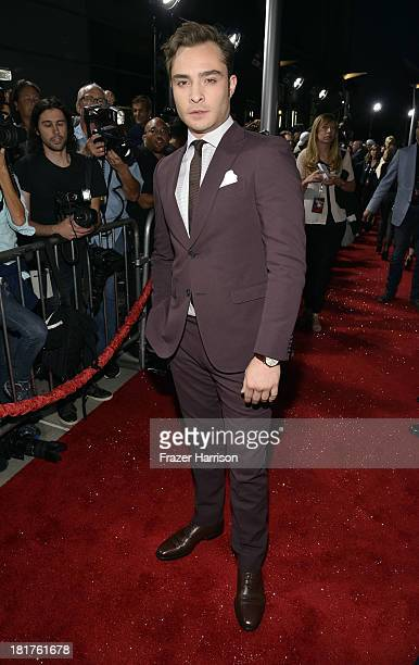 Actor Ed Westwick arrives at the premiere of Relativity Media's 'Romeo And Juliet' at ArcLight Cinemas on September 24 2013 in Hollywood California