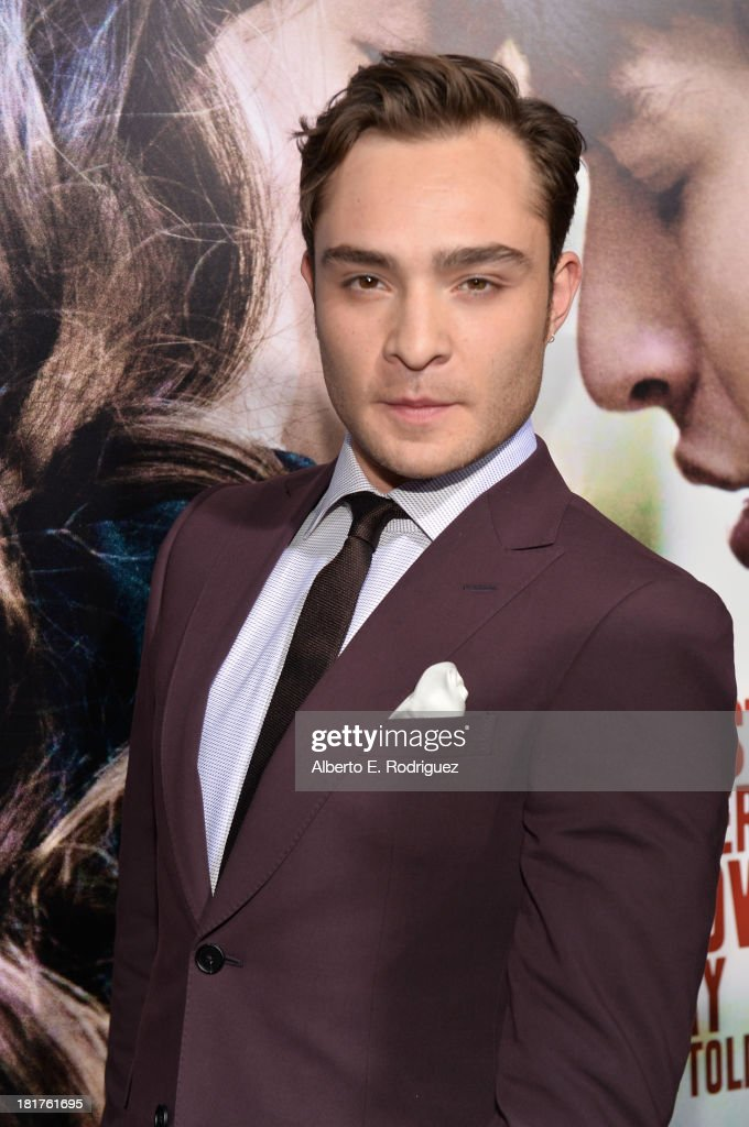 Actor Ed Westwick arrives at the premiere of Relativity Media's 'Romeo & Juliet' at ArcLight Hollywood on September 24, 2013 in Hollywood, California.