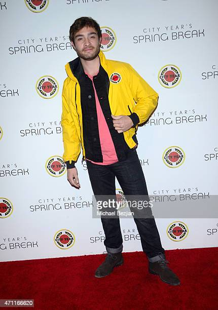 Actor Ed Westwick attends City Year Los Angeles Spring Break at Sony Studios on April 25 2015 in Los Angeles California