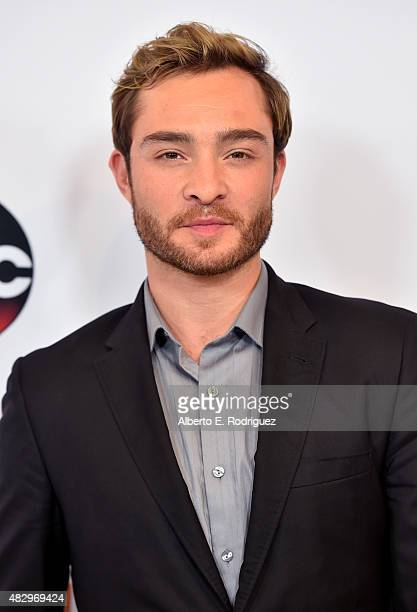 Actor Ed Westwick attends Disney ABC Television Group's 2015 TCA Summer Press Tour at the Beverly Hilton Hotel on August 4 2015 in Beverly Hills...