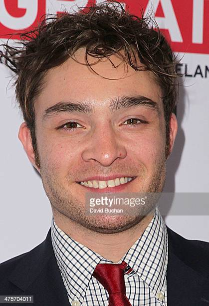 Actor Ed Westwick attends the 2014 GREAT British Oscar Reception on February 28 2014 in Los Angeles California