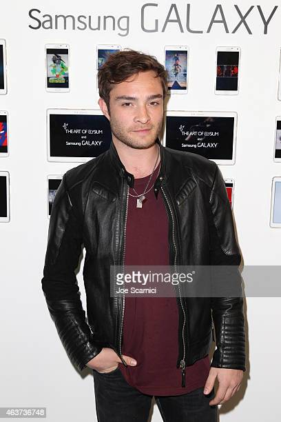 Actor Ed Westwick attends the 8th Annual Pieces of Heaven Art Auction presented by The Art of Elysium and Samsung Galaxy on February 17 2015 in Los...
