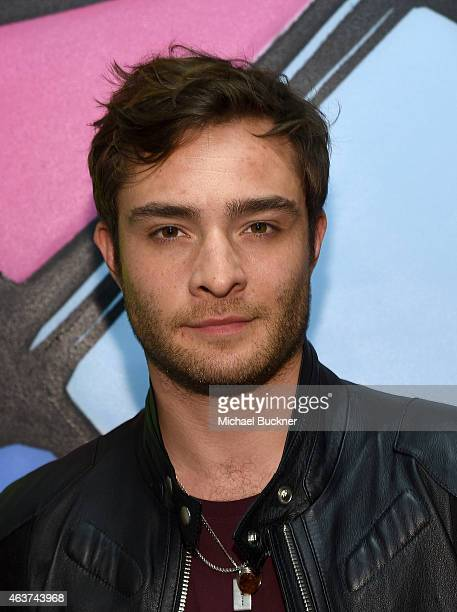 Actor Ed Westwick attends the 8th Annual Pieces Of Heaven Art Auction presented by The Art Of Elysium and Samsung Galaxy at MAMA Gallery on February...