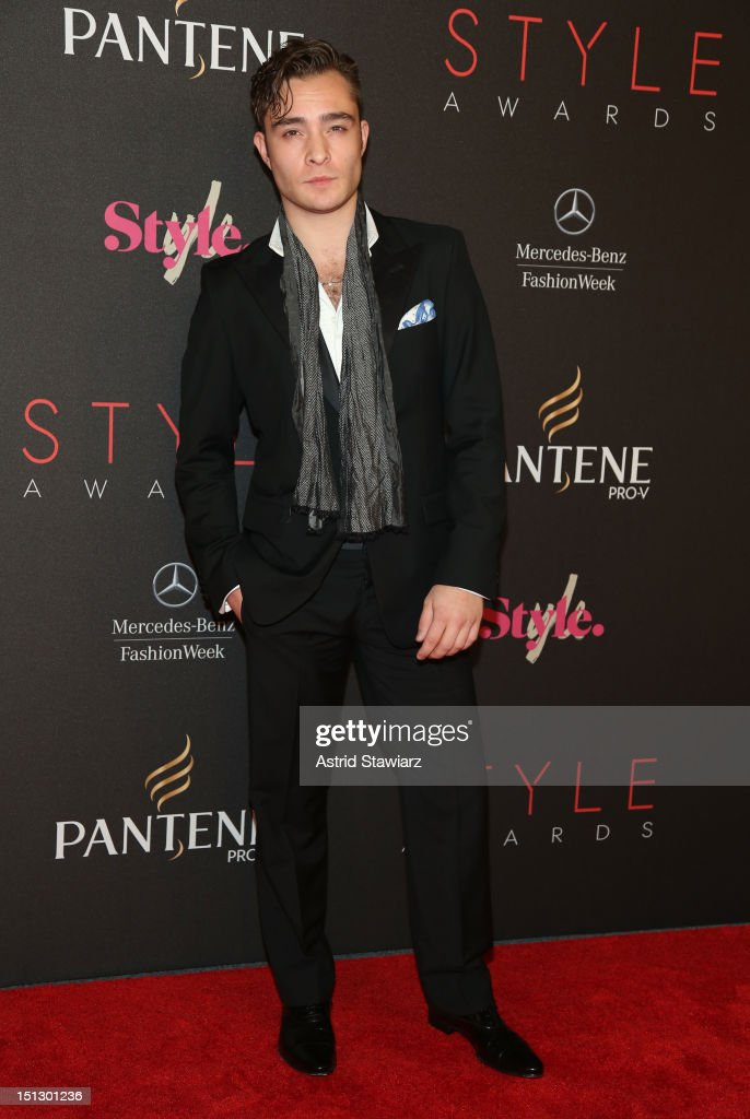 Actor Ed Westwick attends the 9th annual Style Awards during Mercedes-Benz Fashion Week at The Stage at Lincoln Center on September 5, 2012 in New York City.