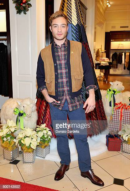 Actor Ed Westwick attends the Brooks Brothers holiday party with St Jude Children's Research Hospital at Brooks Brothers on Rodeo Drive on December 5...