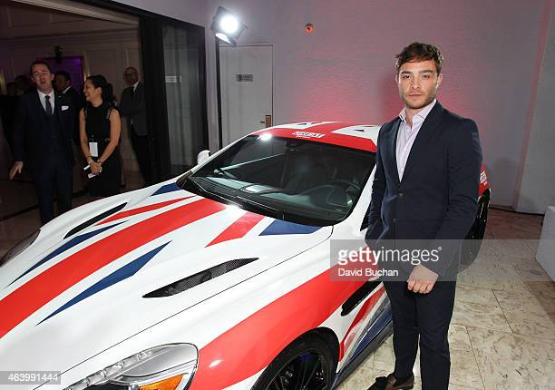Actor Ed Westwick attends the GREAT British film reception honoring the British nominees of the 87th Annual Academy Awards at The London West...