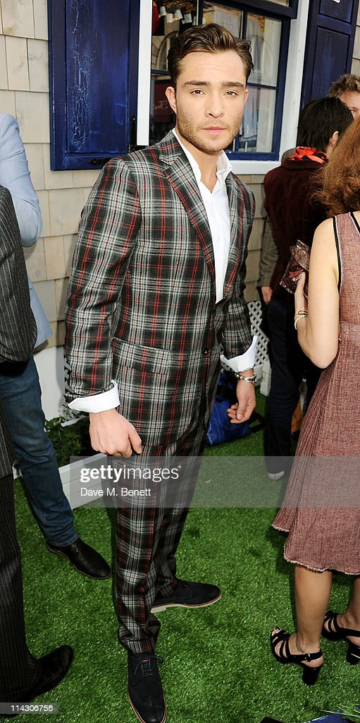 Actor <a gi-track='captionPersonalityLinkClicked' href=/galleries/search?phrase=Ed+Westwick&family=editorial&specificpeople=3974832 ng-click='$event.stopPropagation()'>Ed Westwick</a> attends the launch of the new Tommy Hilfiger pop up shop at Tommy Hilfiger 'Prep World' Covent Garden on May 5, 2011 in London, England.