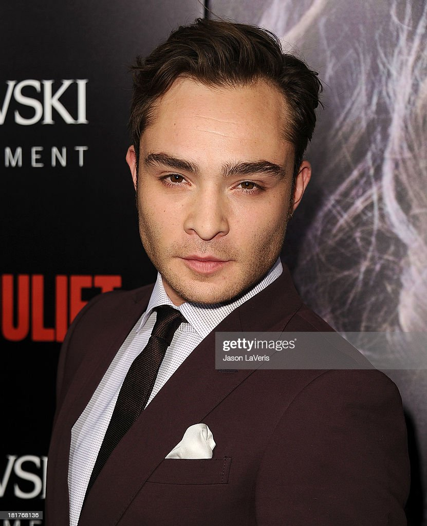 Actor Ed Westwick attends the premiere of 'Romeo And Juliet' at ArcLight Hollywood on September 24, 2013 in Hollywood, California.