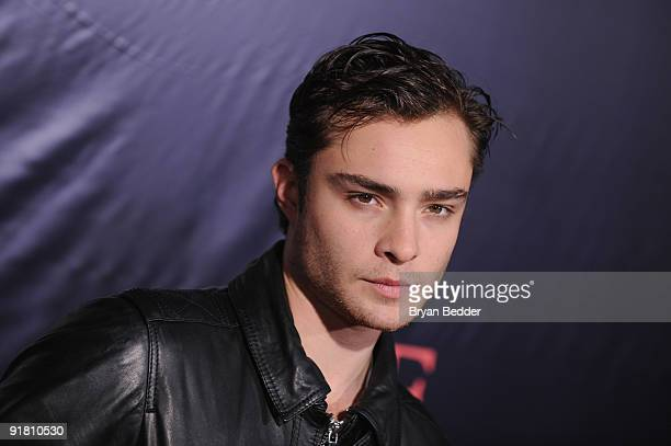 Actor Ed Westwick attends the premiere of 'The Stepfather' at the SVA Theater on October 12 2009 in New York City