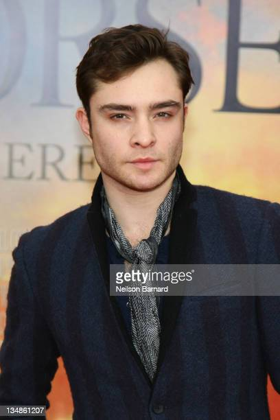 Actor Ed Westwick attends the 'War Horse' world premiere at Avery Fisher Hall at Lincoln Center for the Performing Arts on December 4 2011 in New...
