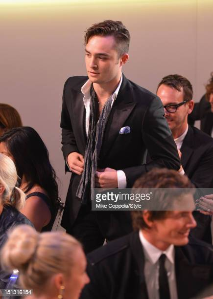 Actor Ed Westwick during the 9th Annual Style Awards at Lincoln Center on September 5 2012 in New York City Tune in to 'The 9th Annual Style Awards'...