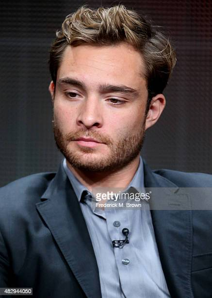 Actor Ed Westwick speaks onstage during the 'Wicked City' panel discussion at the ABC Entertainment portion of the 2015 Summer TCA Tour at The...
