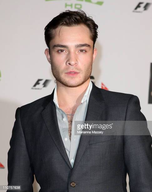 Actor Ed Westwick who is the GP International Guest for the F1 race series this weekend arrives at the Official 2011 Grand Prix Party at Crown...