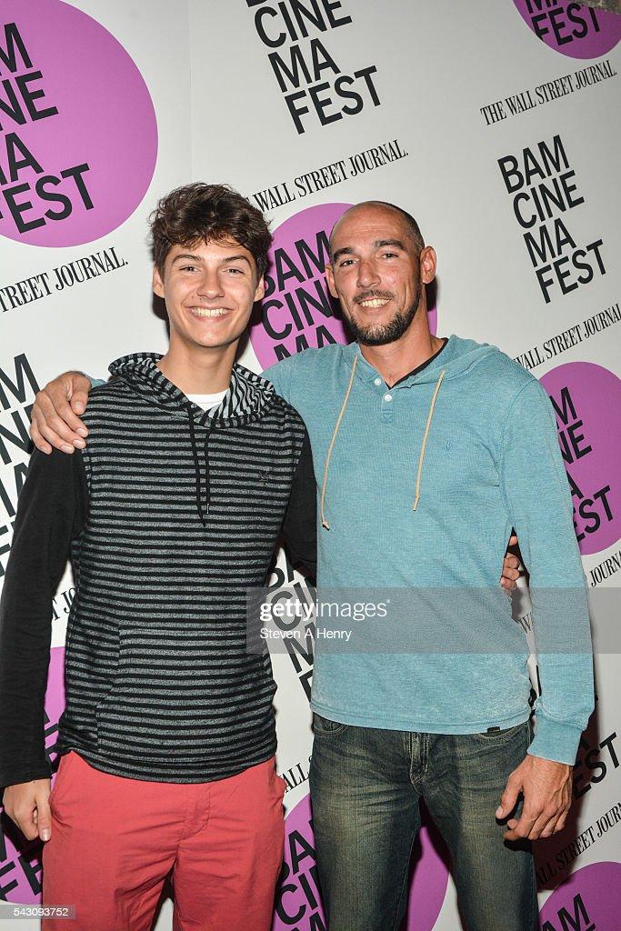 Actor Eddie Cacciola (R) attends BAMcinemaFest 2016 - 'Dark Night' Closing Night Screening at BAM Harvey Theater on June 25, 2016 in New York City.