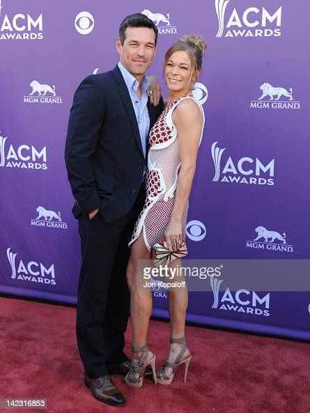 Actor Eddie Cibrian and singer LeAnn Rimes arrive at the 47th Annual Academy Of Country Music Awards held at the MGM Grand Garden Arena on April 1...