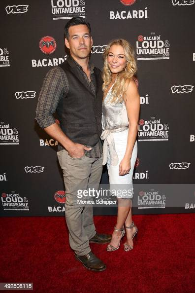 Actor Eddie Cibrian and singer LeAnn Rimes attend Cuban Independence Day celebration hosted by VICE and Bacardi at Weylin BSeymour's on May 20 2014...