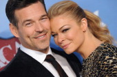 Actor Eddie Cibrian and wife singer LeAnn Rimes arrive at the American Country Awards 2013 at the Mandalay Bay Events Center on December 10 2013 in...