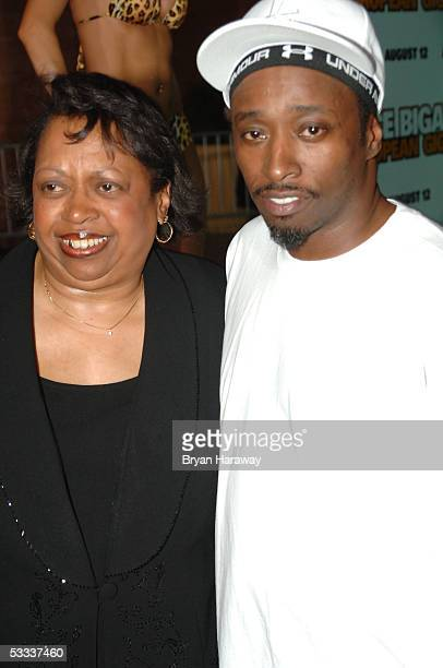 Actor Eddie Griffin and his mother walk the red carpet before the premier of Deuce Bigalow European Gigolo at the Palms casino in Las Vegas on...