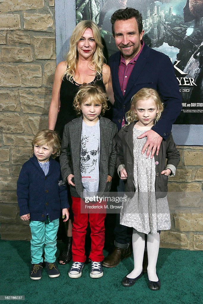 Actor <a gi-track='captionPersonalityLinkClicked' href=/galleries/search?phrase=Eddie+Marsan&family=editorial&specificpeople=2653318 ng-click='$event.stopPropagation()'>Eddie Marsan</a> and his family attend the Premiere Of New Line Cinema's 'Jack The Giant Slayer' at the TCL Chinese Theatre on February 26, 2013 in Hollywood, California.