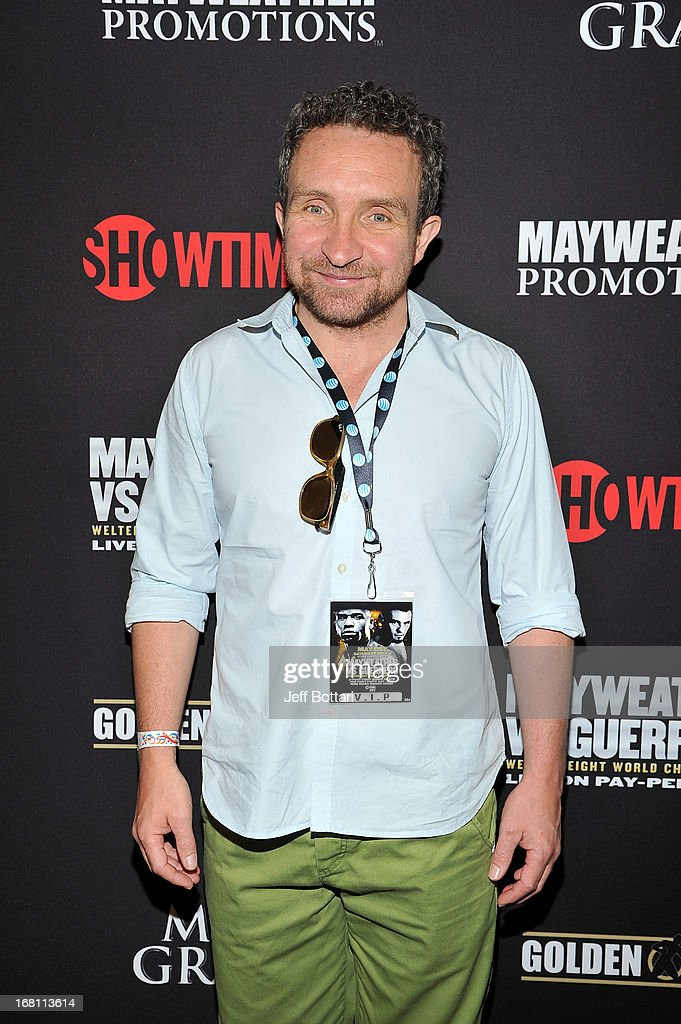 Actor Eddie Marsan arrives at a VIP pre-fight party at the WBC welterweight title fight between Floyd Mayweather Jr. and Robert Guerrero at the MGM Grand Hotel/Casino on May 4, 2013 in Las Vegas, Nevada.