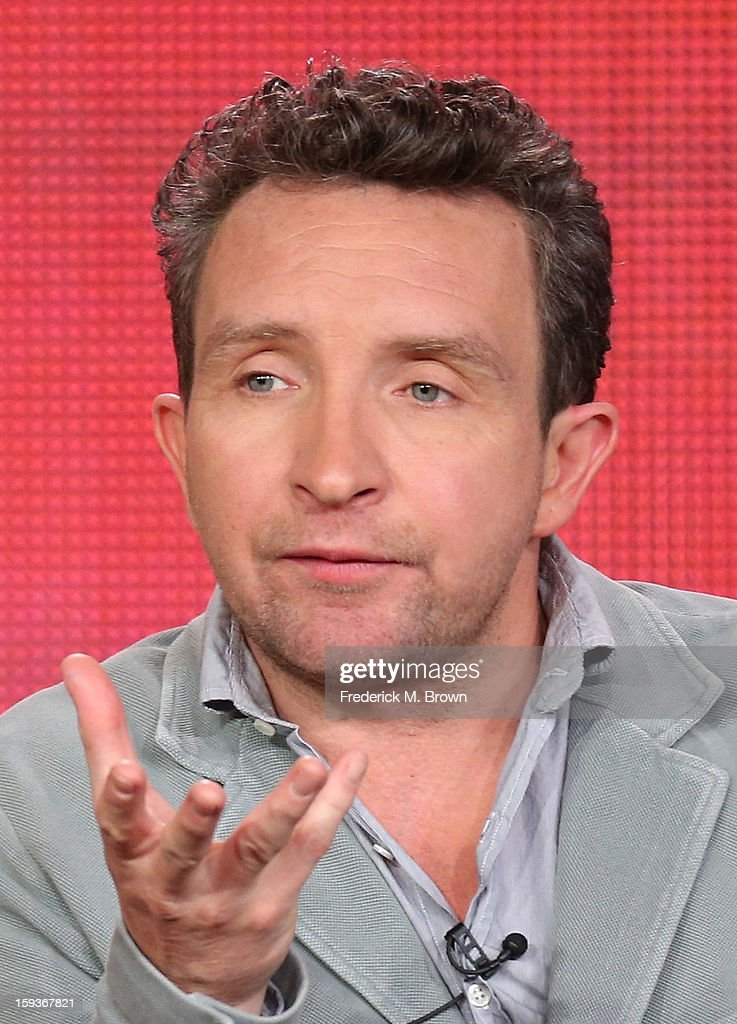 Actor Eddie Marsan of 'Ray Donovan' speaks onstage during the Showtime portion of the 2013 Winter TCA Tour at Langham Hotel on January 12, 2013 in Pasadena, California.