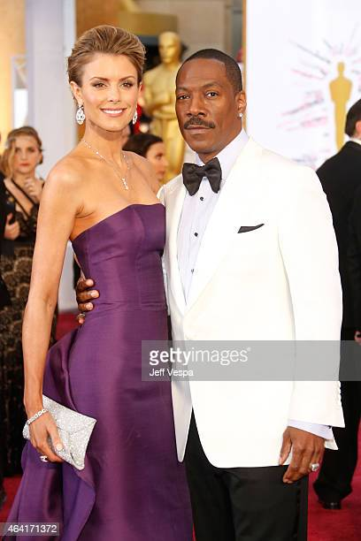 Actor Eddie Murphy and model Paige Butcher attend the 87th Annual Academy Awards at Hollywood Highland Center on February 22 2015 in Hollywood...