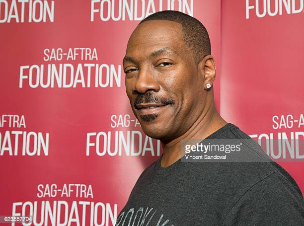 Actor Eddie Murphy attends SAGAFTRA Foundation's Conversations with 'Mr Church' at SAG Foundation Actors Center on November 15 2016 in Los Angeles...