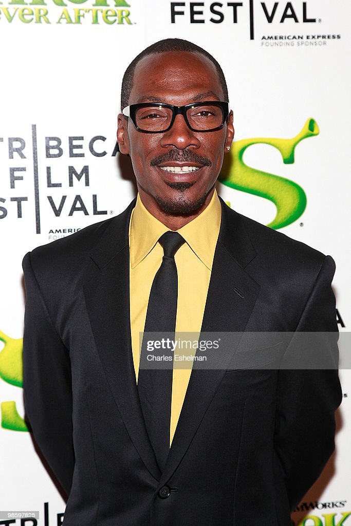 Actor <a gi-track='captionPersonalityLinkClicked' href=/galleries/search?phrase=Eddie+Murphy&family=editorial&specificpeople=203093 ng-click='$event.stopPropagation()'>Eddie Murphy</a> attends the 9th Annual Tribeca Film Festival 'Shrek Forever After' premiere at Ziegfeld Theatre on April 21, 2010 in New York, New York.