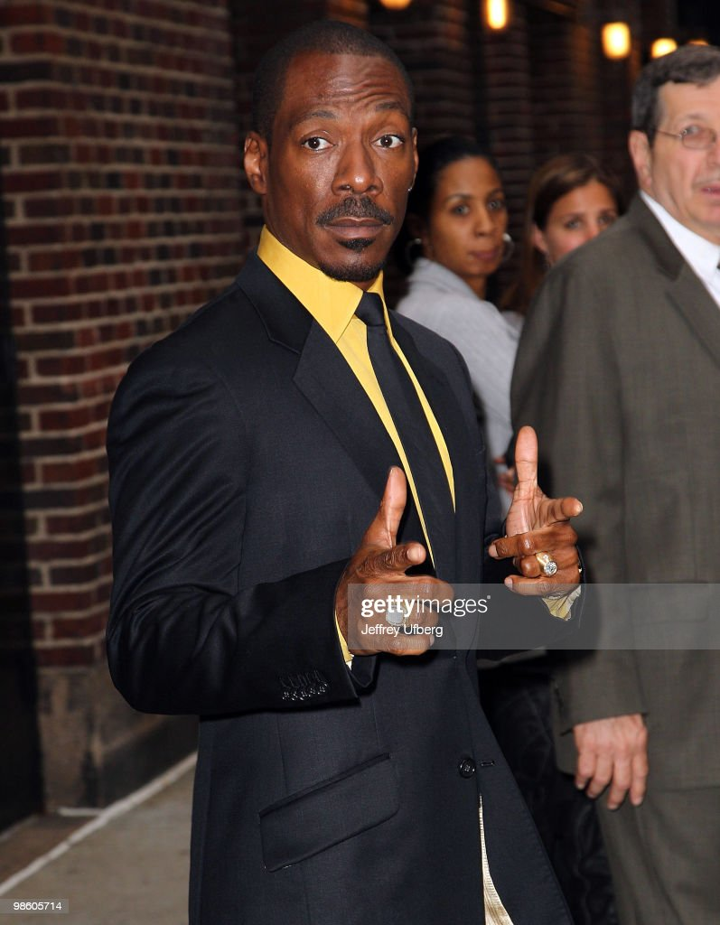 Actor Eddie Murphy leaves after visiting 'Late Show With David Letterman' at the Ed Sullivan Theater on April 21 2010 in New York City