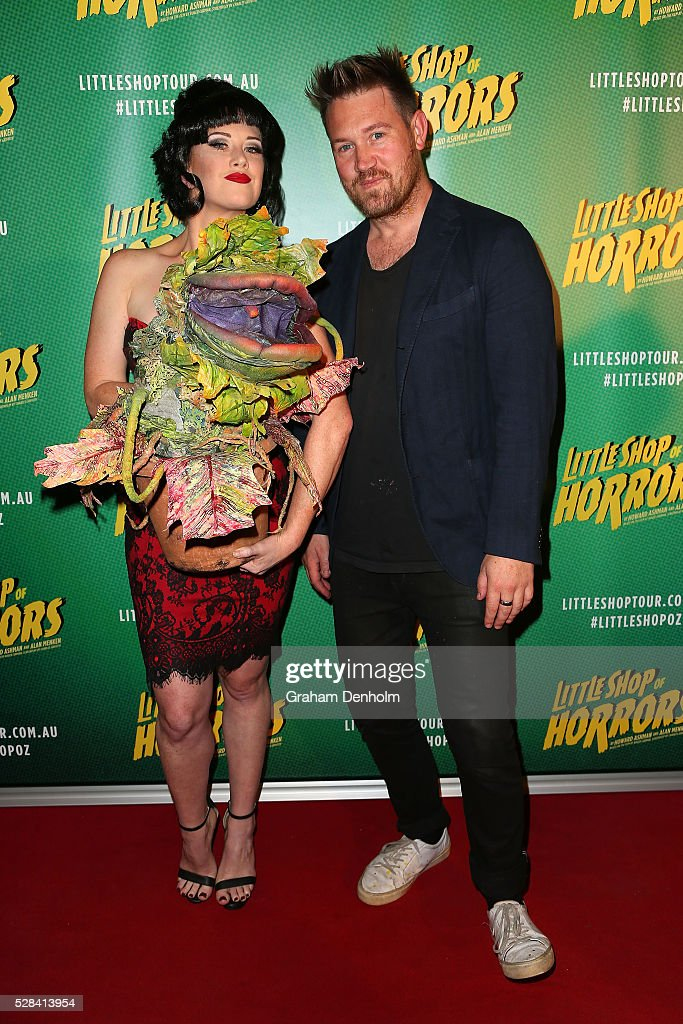 Actor Eddie Perfect arrives ahead of the opening night for the Little Shop of Horrors at the Comedy Theatre on May 5, 2016 in Melbourne, Australia.