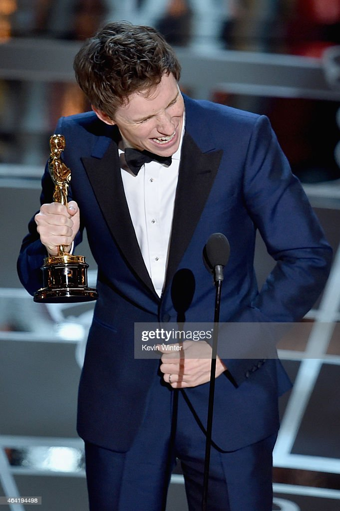 Actor <a gi-track='captionPersonalityLinkClicked' href=/galleries/search?phrase=Eddie+Redmayne&family=editorial&specificpeople=2554844 ng-click='$event.stopPropagation()'>Eddie Redmayne</a> accepts the Best Actor in a Leading Role Award for 'The Theory of Everything' onstage during the 87th Annual Academy Awards at Dolby Theatre on February 22, 2015 in Hollywood, California.